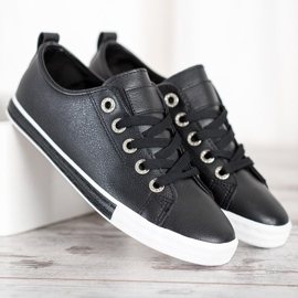 SHELOVET Eco Leather Sneakers black 4