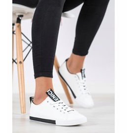 SHELOVET Eco Leather Sneakers white black 4
