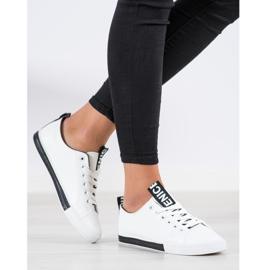 SHELOVET Eco Leather Sneakers white black 5