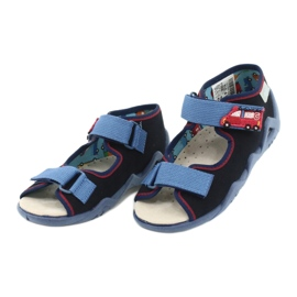 Befado yellow children's shoes 350P014 red navy blue 3