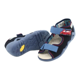 Befado yellow children's shoes 350P014 red navy blue 4