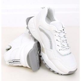 White LA87P White sports shoes 3