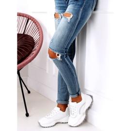 White LA87P White sports shoes 4