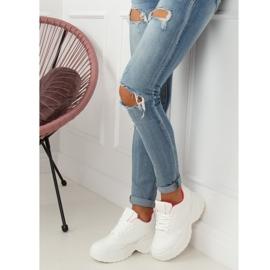High sole white LA78P Fushia sports shoes pink 3