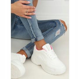 High sole white LA78P Fushia sports shoes pink 2