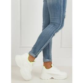 White LA78P Yellow high sole sports shoes 3