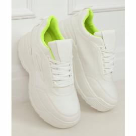 White LA78P Yellow high sole sports shoes 1