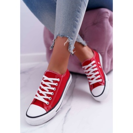 ADY Women's Sneakers Low Material Red FreeTime 1