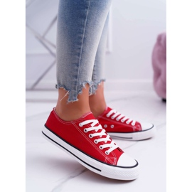 ADY Women's Sneakers Low Material Red FreeTime 2