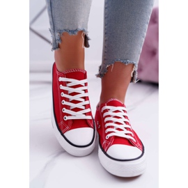 ADY Women's Sneakers Low Material Red FreeTime 3
