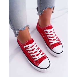 ADY Women's Sneakers Low Material Red FreeTime 4