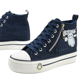 Navy Lynnhurst lace-up sneakers navy blue 1