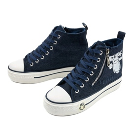 Navy Lynnhurst lace-up sneakers navy blue 2