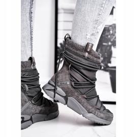 Women's snow boots Big Star Gray GG274629 grey 3