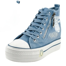 Blue Lynnhurst lace-up sneakers 1