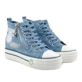 Blue Lynnhurst lace-up sneakers 3