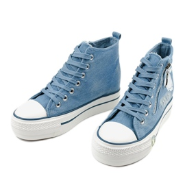Blue Lynnhurst lace-up sneakers 2