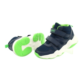 Befado children's shoes 516X049 navy blue green 3