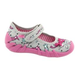 Befado children's shoes 109P204 pink silver grey 1