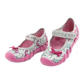 Befado children's shoes 109P204 pink silver grey 3