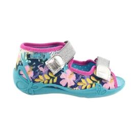 Befado children's shoes 242P098 blue pink silver 1