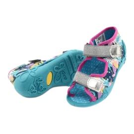 Befado children's shoes 242P098 blue pink silver 4