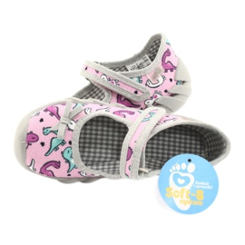 Befado children's shoes 109P205 pink silver grey 5