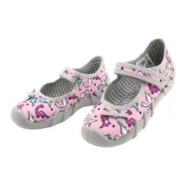 Befado children's shoes 109P205 pink silver grey 3