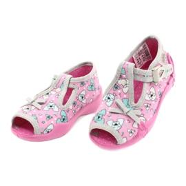 Befado children's shoes 213P120 pink silver grey 4