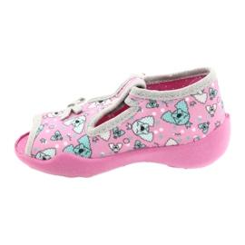 Befado children's shoes 213P120 pink silver grey 3