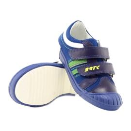 Boys' shoes Bartek 65498 navy blue white green 3