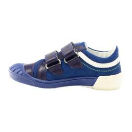 Boys' shoes Bartek 65498 navy blue white green 2