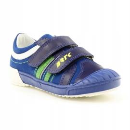 Boys' shoes Bartek 65498 navy blue white green 1