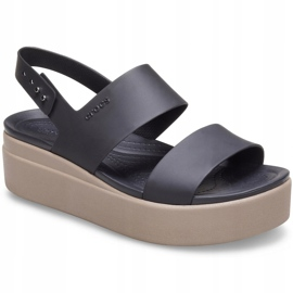 Crocs women's sandals Brooklyn Low Wedge W brown 206453 07H black 3