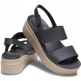 Crocs women's sandals Brooklyn Low Wedge W brown 206453 07H black 2