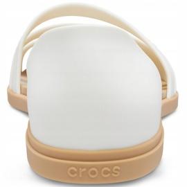 Crocs Women's Sandals Tulum Open Flat W Pearl 206109 1CQ white 4