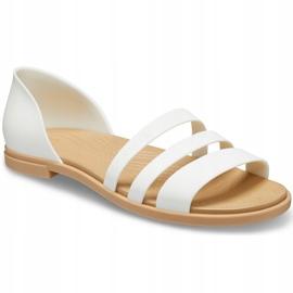 Crocs Women's Sandals Tulum Open Flat W Pearl 206109 1CQ white 3