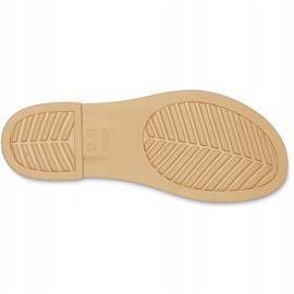 Crocs Women's Sandals Tulum Open Flat W Pearl 206109 1CQ white 5