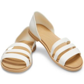 Crocs Women's Sandals Tulum Open Flat W Pearl 206109 1CQ white 2