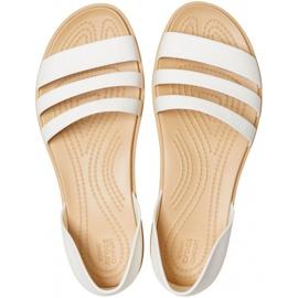 Crocs Women's Sandals Tulum Open Flat W Pearl 206109 1CQ white 1
