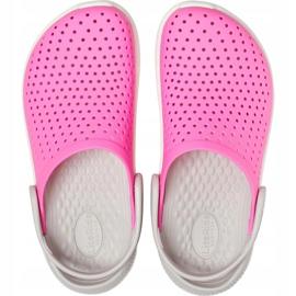 Crocs for kids LiteRide Clog Kids pink-white 205964 6QR 1