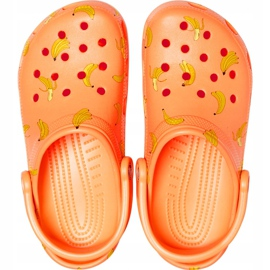 Crocs Kids Classic Vacay Vibes Clog Orange 206375 801 1