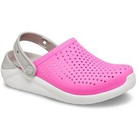 Crocs for kids LiteRide Clog Kids pink-white 205964 6QR 3