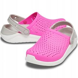 Crocs for kids LiteRide Clog Kids pink-white 205964 6QR 2