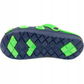 Aqua-speed Silvi col 48 green and navy blue slippers for children 3