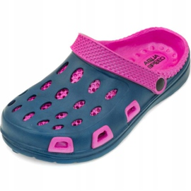 Aqua-speed Silvi children's pool slippers, col 49, pink and navy blue 2