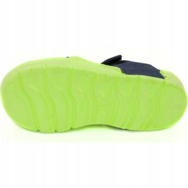 Aqua-speed Noli swimming pool slippers for children, green and navy blue col. 84 3