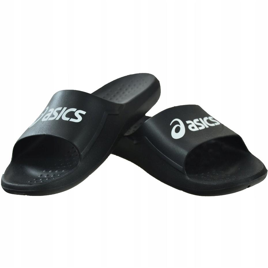 Black Asics men's slippers AS001 P70NS-9001
