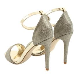 SEA Women's Gold Sandals Glitter Gold Fiver golden 5