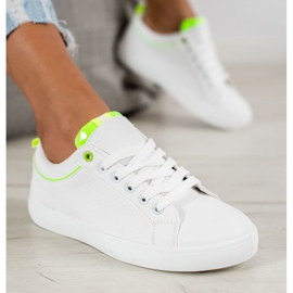 SHELOVET Stylish Sneakers With Eco Leather white 2